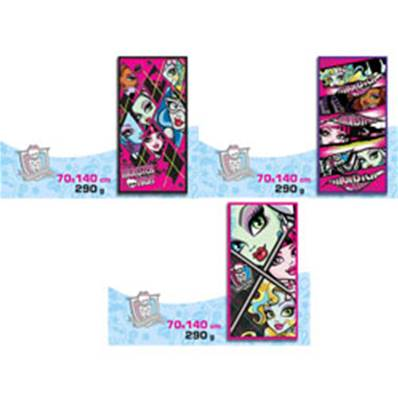 Serviette de Bain Monster High 70x140 Cm (uniquement 9007)