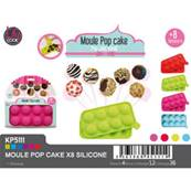 Moule Pop Cake x 8 Silicone Lily Cook