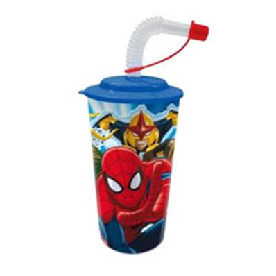 Verre Paille 3D Spiderman