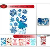 Sticker Noel 3D Paillettes (plaque 50 x 29cm)