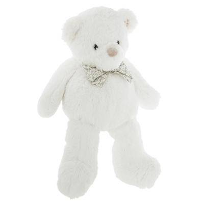 Peluche Ourson Noeud Blanc