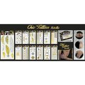 Bijoux Chic Tattoos Metallic 12 Assortis