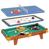 Table multi-jeux 3 en 1