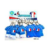 Porte Clef  Maillot Foot France 2 Couleurs