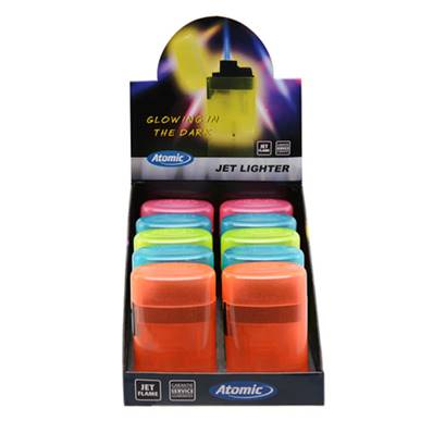 Briquet Jet Flamme  Glow In THe Dark