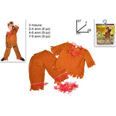 Costume Indienne 2-4/4-6/7-9 Ans