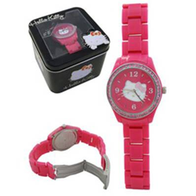 Montre Rose Strass HELLO KITTY