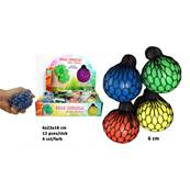 Balle Cervelle Filet 6 Cm 4 Couleurs