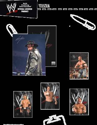 Carnet 40 pages Lignes WWE Catch