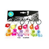 Porte Cle Animal Ours Cristal Noeud Strass
