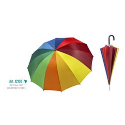 Parapluie Golf Automatique Multicolore 65Cm /12
