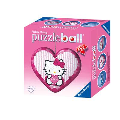 Puzzle Ball Coeur HELLO KITTY (modèle assortis)